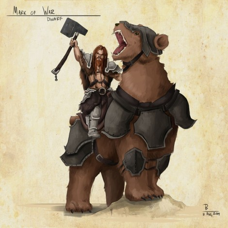A dwarf. On a bear. Do I need to say anything else?