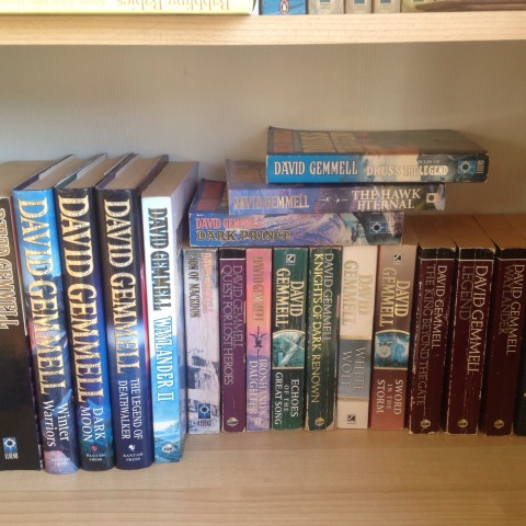 My collection of David Gemmell novels