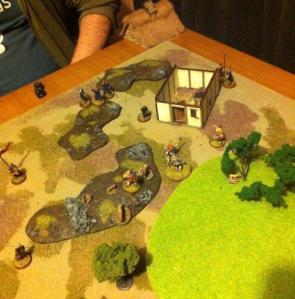 A shot of Vikings and Saxons on a raid