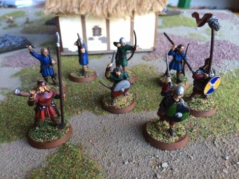 A miniature Saxon warband